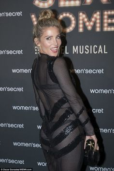 If you've got it, flaunt it! Elsa Pataky stepped out boldly in a sheer mesh dress with sequin detail on Friday to promote her new lingerie ad campaign