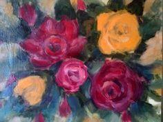 Rosas de jardín 29x38cm