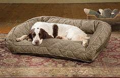 Orvis Deep Dish Dog Bed With Quilted Sleep Surface  Large Dogs Up To 60120 Lbs Brown Tweed ** Check out the image by visiting the link.