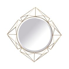 This antique gold mirror is just the accent you've been searching for if you'd like to add a touch of glamour to your living spaces. The circular mirror features an iron, triangular design and will look fabulous hanging over a gold or acrylic console tabl Antique Gold Mirror, Sweetpea And Willow, Grey Armchair, Circular Mirror, Curved Sofa, Moroccan Style, Mirror With Lights, Round Mirrors, Pendant Set