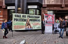 #IMAGE: Protest outside Saudi Airlines office in London against awarding Hajj contract to #G4S.