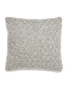 £22.00 50cm by 50cm Basketknit cushion, silver grey