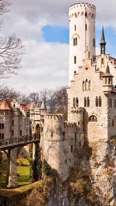 Lichtenstein Castle. Inspiration for Cinderella's Castle. Baden, Wurttemburg, Germany