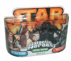Amazon.com: Star Wars Year 2005 Galactic Heroes Series 2-1/2 Inch Tall Mini Action Figure : OBI-WAN KENOBI with Jedi Cloak and Blue Lightsab...