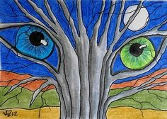 THE TREES HAVE EYES ACEO ON EBAY