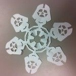 Darth Vader Snowflakes: Directions & Diagram on Site!