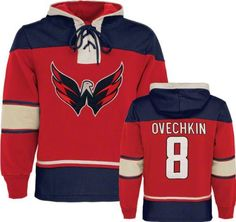Old Time Hockey Washington Capitals Alex Ovechkin Muldoon Player Hooded Sweatshirt by Old Time. $109.99. This player lace-up hooded sweatshirt from Old Time Hockey® is perfect for the die-hard fan in your life! It's decorated in the NHL® team colors and designed with distressed fabric appliqués, featuring the team logo on the front and the player's name and number on the back.