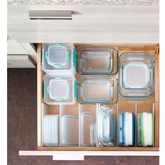 ow's your plastic container/Tupperware organization? I like stacking container… – organization Organiser Tupperware, Tupperware Organizing, Tupperware Storage, Organisation Hacks, Organizing Hacks, Storage Organization, Organising, Storage Ideas, Container Organization