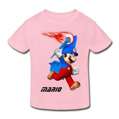 Mario Holding The Torch Toddler T-shirt on Sale-Art & design Kids & Babies with 98% happy customers! Create custom shirts and personalized goods at http://hicustom.net ,Use our online designer to add your design, logos, or text. easily!