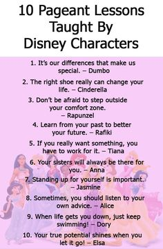 10 Pageant Lessons Taught by Disney Characters