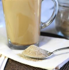 Make your own Chai Tea Latte mix at home ... so yummy, and so easy.  www.thekitchenismyplayground.com  #chai #chaitea