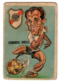 figurita tarjeton futbol sport 67 num 45 e. onega (river)