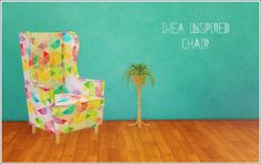 IKEA Inspired chair conversion at Lina Cherie • Sims 4 Updates