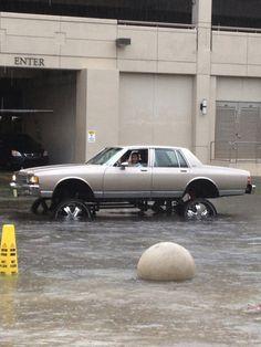 Not So Low Rider In Florida During Hurricane Season - NoWayGirl