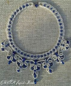 . Tatting Necklace, Tatting Jewelry, Beaded Jewelry, Handmade Jewelry, Needle Tatting, Tatting Lace, Tatting Patterns Free, Tatting Tutorial, String Crafts