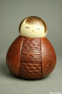 japanese kokeshi doll blog: The Kokeshi Master Craftman, the late Mr.Watanabe Masao