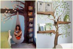Estante de livros - Criativas ideias para as estantes/prateleiras da galerinha!   Blog Alphabeto