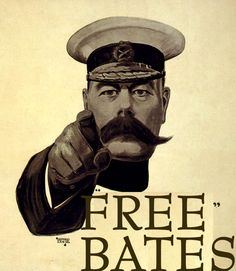 """A 1914 recruitment poster depicting Lord Kitchener, the British Secretary of State for War, above the words """"WANTS YOU"""" was the most famous image used in the British Army recruitment campaign of World War I. It has inspired many imitations World War One, First World, Dig For Victory, Nineteen Eighty Four, Digital Archives, The Secret History, Downton Abbey, Famous People, Image"""