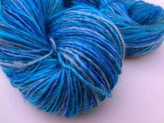 360 Yards of Ice Blue Sport weight Silk Hand-spun Yarn