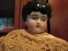 Antique China Head Doll Paper Mache by ParisPaintingsEtc on Etsy