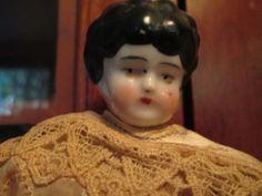 Antique China Head Doll Paper Mache by ParisPaintingsEtc on Etsy