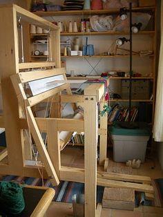 Rebecca Mezoff's weaving studio