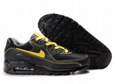 timeless design 9a524 8dcc8 Nike Air Max 90 Black Yellow