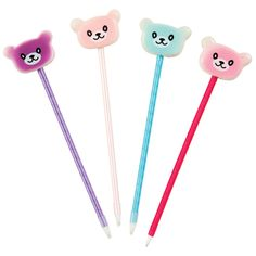 Squishy Marshmallow Bear Pens Fun, squish-able bear faces top this ribbon-wrapped pen barrel! These cute bear faces are as soft as any marshmallow and make this squishy pen a real treat to play with. Classroom Prizes, Classroom Setup, Baking Set, Baking With Kids, Discount Office Supplies, Cute Pens, Bear Face, Cute School Supplies, Ribbon Wrap