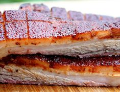 """""""Smoked Whole Pork Belly!"""" Jeff has been wanting to show you how to make smoked whole pork belly and the time has come to make that happen. Click the link in our bio for this AMAZING and FREE recipe! Smoked Beef Short Ribs, Smoked Chuck Roast, Smoked Pork Belly Recipe, Pork Belly Recipes, Pellet Grill Recipes, Smoker Recipes, Grilling Recipes, Game Recipes, Rib Recipes"""