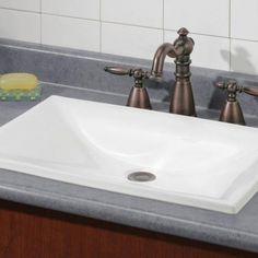 Dietrich DropIn Sink Square Dropin Basin Centres W X - Square drop in bathroom sink for bathroom decor ideas