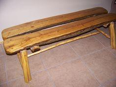Custom Made Log Bench