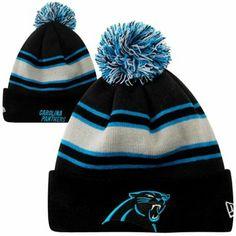 New Era Carolina Panthers Fashion Sport Knit Hat - Black/Carolina Blue