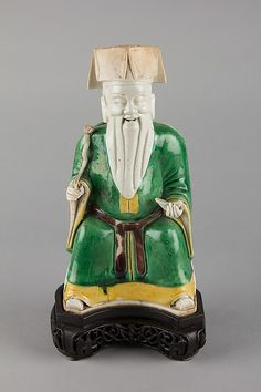 Statuette of Bearded Man, Qing dynasty (1644–1911). China. The Metropolitan Museum of Art, New York. Bequest of Bernard M. Baruch, 1965 (65.155.55) #AsianArt100