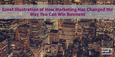 Great illustration of how marketing has changed the way you can win business