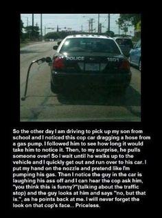 Priceless Prank on Cop