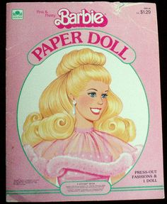 Vintage Barbie 1983 paper doll .  4 pages of clothes of 30 years ago fashions.  The top of the cover is munched but the doll and clothes are intaked.  A very fun collectible. All of my vintage items are sold as/is because of the years they have endured.