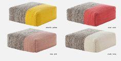 Plait Poufs by Patriciia Urquiola for GAN Rugs Simple Aesthetic, Textiles, Plait, Poufs, Wall Design, Family Room, Ottoman, Armchair, Chairs