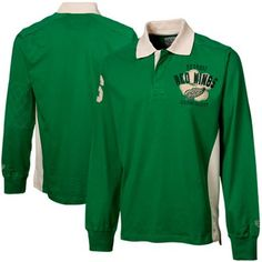 Old Time Hockey Detroit Red Wings St. Patrick s Day Rugby Long Sleeve Polo Nhl  Hockey 2bf63821a