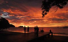 July 2014, Costa Rica, sunset