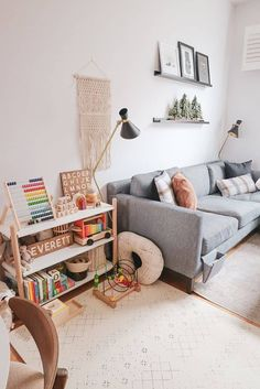 Living Room Playroom, Small Playroom, Kids Living Rooms, Small Space Living Room, Paint Colors For Living Room, Home Living Room, Small Spaces, Living Room Decor, Room Paint