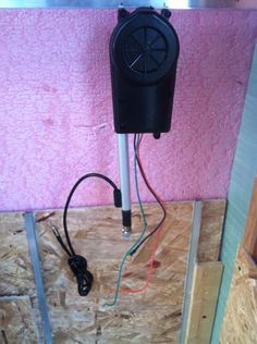 Automatic Chicken Coop door for only $5 bucks with a radio antenna from a junkyard