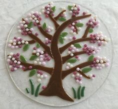 Fused glass - Tree in blossom