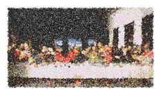 The Last Supper as an Emoji Mosaic