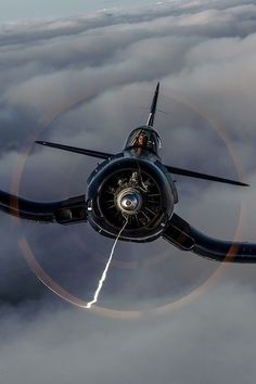 """A Corsair or as it was known during WWII, """"Whistling Death"""" are simply cool aircraft. Working with a publisher on a corsair project a. Ww2 Aircraft, Fighter Aircraft, Military Aircraft, Air Fighter, Fighter Jets, Jets Privés De Luxe, Photo Avion, F4u Corsair, Ww2 Planes"""