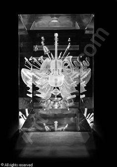 STEUBEN GLASS WORKS - A sculpture: Music Baroque