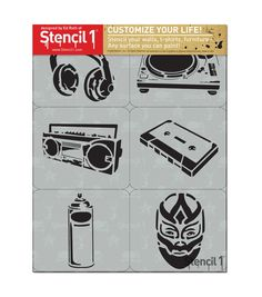 Stencil1 Graffiti Theme 2 Set Stencil