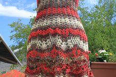 SALE : Crochet beach dress/ open back / One Of A Kind/red