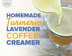 No need for artificial ingredients: This homemade coffee creamer combines coconut milk with ground turmeric and lavender for a soothing drink, hot or cold!