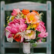peonies and poppies bouquet