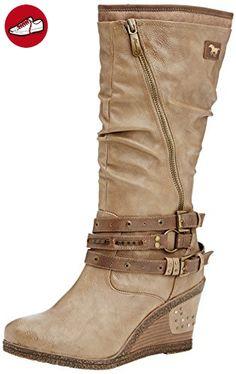 Mustang Stiefel, Damen Langschaft Stiefel, Braun (318 taupe), 42 EU (*Partner-Link)